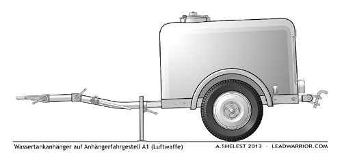 Wassertankanhanger, Luftwaffe, 1939,  LeadWarrior Resin Kit